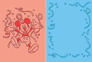 Cuttlebug disney Mickey Mouse Celebrates embossing folder set 37 1704