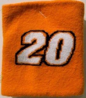 20 SPORTS TERRY CLOTH ORANGE WRISTBAND TONY STEWART NASCAR SWEAT BAND