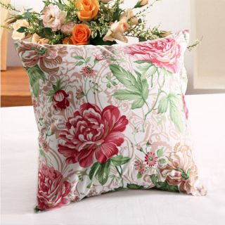 Decorative Throw Lumbar Pillow Case Cushion Sofa Bed Cover Flower