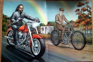 David Mann Centerfold Poster Easy Rider October 1993 Biker Art