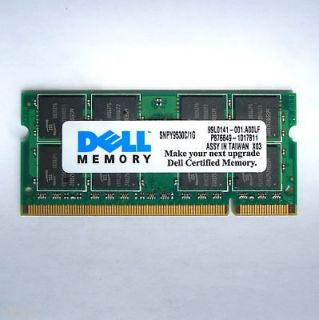 1GB PC2 5300 DDR2 SDRAM SODIMM DELL CERTIFIED LAPTOP MEMORY A+++