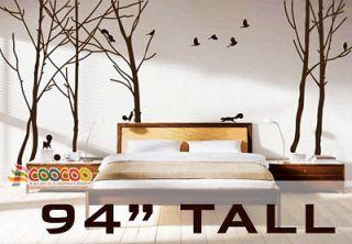 Wall Decor Decal Sticker vinyl large tree forest birds