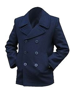 US Navy Style Wool PEA COAT   XXL (48 inch)   Military Deck Jacket