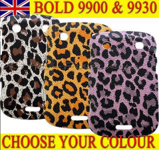 ANIMAL LEOPARD SNAKE PRINT CASE COVER For BlackBerry BOLD 9900 & 9930