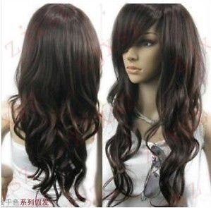 Vogue brown curl womens wig like real hair wigs