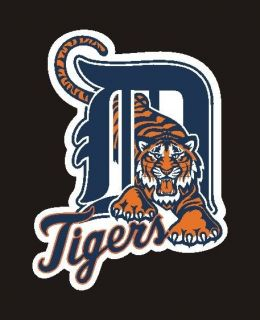 Detroit Tigers Tiger in D Decal, Sticker 2.5 #25ba