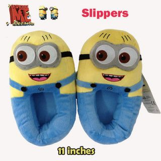 Despicable Me Minion Plush Stuffed Slippers Cuddly Soft Toy Jorge Warm