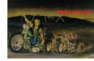 David Mann Art Hollywood Nights Easyriders Print Harley Davidson H D