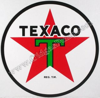 TEXACO T STAR GASOLINE 3 DIE CUT VINYL GAS & OIL PUMP DECAL DC 120C