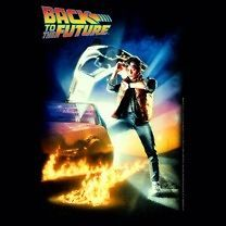the Future Movie Poster Marty McFly Delorean Licensed Tee Shirt S 3XL