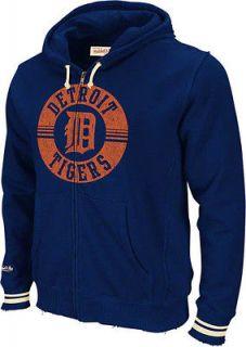 Detroit Tigers Mitchell & Ness Navy Full Zip Hoodie