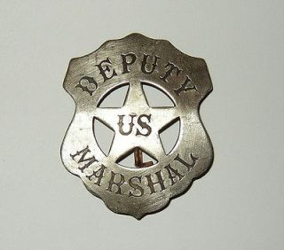 Deputy US Marshal Sheriff Antique Western Replica Lawman Badge Police