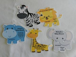 UNIQUE PERSONALIZED BABY SHOWER PARTY FAVOR JUNGLE ANIMALS BIRTHDAY