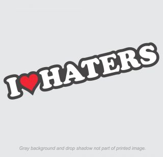 Heart Haters Sticker   Decal, Love. dgk car hate