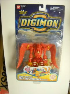 Digimon Digivolving Birdramon to Garudamon figure mint on card Bandai