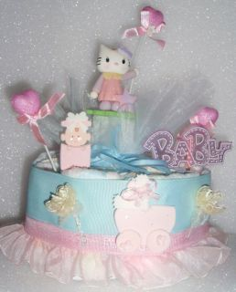 HELLO KITTY BABY DIAPER SHOWER CAKE CENTERPIECE GIFT