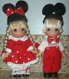 2005 DISNEY PRECIOUS MOMENTS MICKEY MINNIE MOUSE VINYL DOLLS BOY