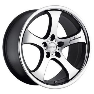 20 MRR CV2 Matte Black Chrome Wheels Rims Fit INFINITI G35 G37 COUPE