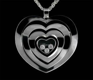 Diamonds 18K White Gold Medium Heart Pendant Necklace RRP £4,590