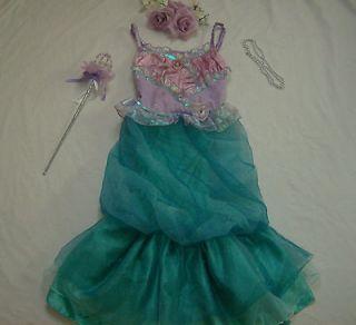 Disney Princess Little Mermaid Ariel Costume girl dress up S 3 4