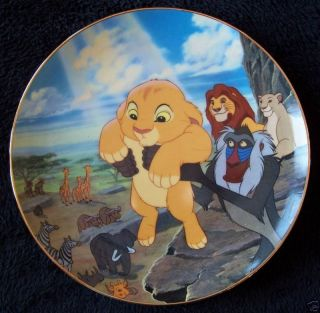 Disney Lion King CIRCLE OF LIFE #1 Series 1994 Ltd Ed Plate