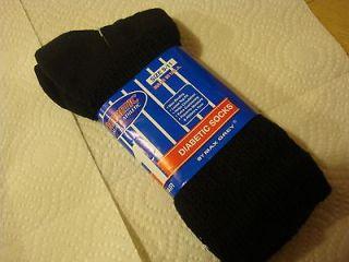 New Ankle Length USA Diabetic Socks Men or Women Size 9   11 Black by