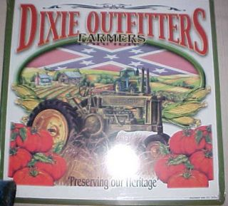 Dixie Outfitter FarmerPreserving Our Heritage 14 X 14 Tin Sign Green