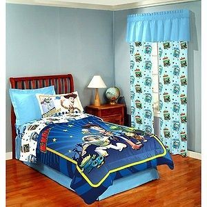 New Disney Toy Story 3 Boys Blue Twin/Full Comforter & 3 D Glasses