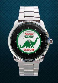 Sinclair Dino Oil Gas Pump Gasoline Lighted Wristwatch Orig FINE