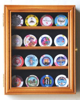 16 Casino Chips / Coin / Poker Display Case Holder Rack