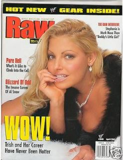 WWE WWF RAW Divas female wrestling magazine Trish Stratus w/poster 4