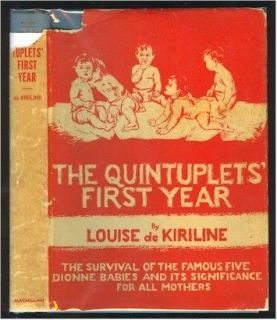 QUINTUPLETS FIRST YEAR Dionne Quints 1936 Book HC DJ