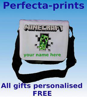 kids minecraft bag school reporter laptop netbook ipad lunch bag