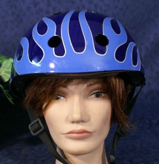 Nice Black with Blue Tribal Flames HARLEY DAVIDSON Bicycle Helmet Sz M