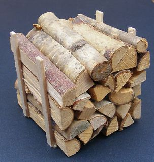 Stack Of Logs For Fire Wood Dolls House Miniature Garden Accessory