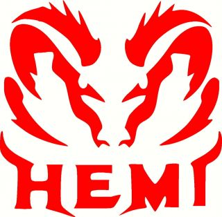DODGE RAM HEMI VINYL DECAL STICKER 12 X 12