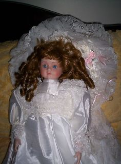 Collectible Hand Crafted Porcelain Bride Doll
