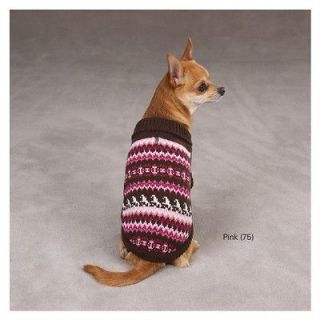 Dog FAIR ISLE Knit Sweater Winter Canine Pet Pup Clothes Teacup XXS XS