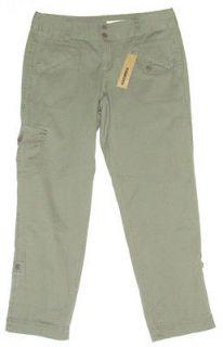 DKNY Cargo Pants New Womens Khaki Beige Military Army Green JEANS Size