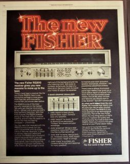 1979 Fisher RS2010 stereo receiver vintage ad
