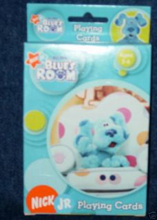 New Blues Clues Nick Jr. Blue Room Playing Cards Game
