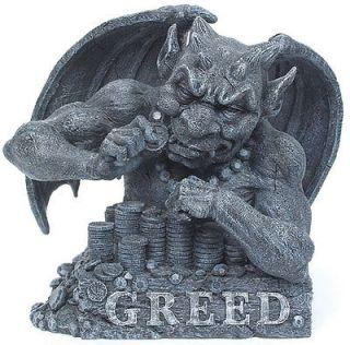 Seven Deadly Sins Collection Greed Gargoyle Statue Figurine Home Decor