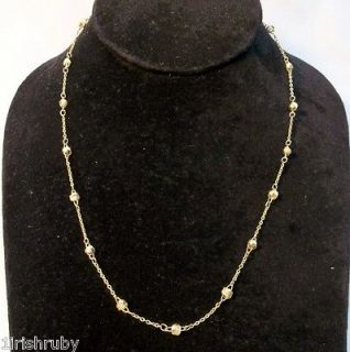 DELICATE LOVE KNOT CHAIN NECKLACE GOLDTONE