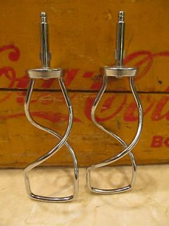 Vintage Oster Regency Kitchen Center Mixer Parts Dough Hooks Ex Con