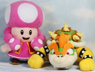 Newly listed lot 2 mario bros bowser toadette 10 plush toy doll