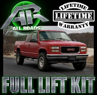 AR 1988 1999 Chevy GMC K1500 Full Front & Rear Lift Leveling Kit 4WD