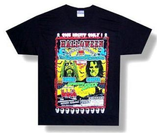 ROB ZOMBIE & ALICE COOPER   HOOTENANNY 2010 TOUR T SHIRT   NEW ADULT