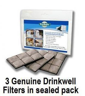PACK OF 3 GENUINE DRINKWELL PET DOG CAT WATER FOUNTAIN REPLACEMENT