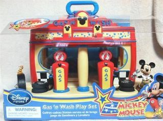 NEW Disney Mickey Mouse Clubhouse Gas N Wash play set