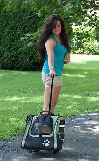 GO2 Traveler wheeled Dog Backpack Bed C ar Seat 20 LB pet Carrier